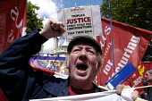 TUC and NPC Pay Up for Pensions demonstration calling for an increase in the state pension. - Paul Mattsson - 19-06-2004