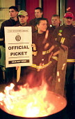 FBU Firefighters National Pay Strike. Picket of Islington Fire Station, North London - Paul Mattsson - 13-11-2002