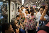 Busy crowds on the subway system. Shanghai, China. - Connor Matheson - 06-09-2015