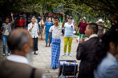 Square dancers, dancing in Cuihu Park, Kunming, Yunnan Province, China. - Connor Matheson - 10-09-2015