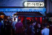 Mask Western style bar, Kundu, nightclub district, Kunming, China - Connor Matheson - 11-09-2015