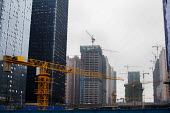 Cranes building new housing. Guiyang,Yunnan Province, China. - Connor Matheson - 03-10-2015