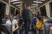 San Francisco, Passengers on the Bay Area Rapid Transit system - David Bacon - 21-11-2015