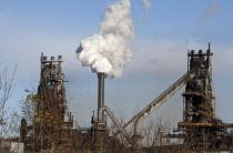 Scunthorpe Steelworks, Tata Steel Ltd, North Lincolnshire - John Harris - 2010s,2015,Blast furnace,British,C02 Emissions,capitalism,capitalist,chimney chimneys,EBF Economy,eni,environment,environmental,environmental degradation,FACTORIES,factory,FOUNDRIES,FOUNDRY,furnace,FU