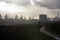 Scunthorpe Steelworks, Tata Steel Ltd, North Lincolnshire - John Harris - 2010s,2015,Blast furnace,British,capitalism,capitalist,chimney chimneys,EBF Economy,FACTORIES,factory,FOUNDRIES,FOUNDRY,furnace,FURNACES,Industries,INDUSTRY,Lincolnshire,maker,makers,making,manufactur