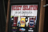 Reject isolation, join our congregation of drinkers, Wetherspoons Pub, Stratford upon Avon - John Harris - 2010s,2015,advertisement,advertisements,advertising,alcohol,alone,beer,cider,congregation,consumer,consumerism,consumers,customer,customers,drink,drinker,drinkers,drinking,drinks,EBF,Economic,Economy,