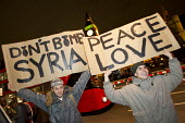 Peace Love Don't Bomb Syria protest. Parliament Square. London. - Jess Hurd - 03-12-2016