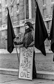 Protest against British troops in Northern Ireland, vigil, Parliament Square, London 1973. The Irish people are one - Martin Mayer - 1970s,1973,activist,activists,against,CAMPAIGN,campaigner,campaigners,CAMPAIGNING,CAMPAIGNS,DEMONSTRATING,Demonstration,DEMONSTRATIONS,FEMALE,IRA,Ireland,Irish,London,nationalism,nationalist,nationali