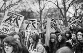 Women's Liberation march, London. Equal education and job opportunity - Martin Mayer - 1970s,1971,activist,activists,CAMPAIGN,campaigner,campaigners,CAMPAIGNING,CAMPAIGNS,DEMONSTRATING,demonstration,DEMONSTRATIONS,Equal,equal opportunities,equal pay,equal rights,equality,FEMALE,feminism
