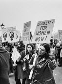 Women's Liberation march, London. Equality for women now! - Martin Mayer - 1970s,1971,activist,activists,CAMPAIGN,campaigner,campaigners,CAMPAIGNING,CAMPAIGNS,DEMONSTRATING,demonstration,DEMONSTRATIONS,Equal,equal opportunities,equal pay,equal rights,equality,FEMALE,feminism
