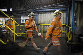 Miners coming off shift at Kellingley Colliery. Knottingley near Pontefract, Yorkshire.The last deep coal mine is scheduled to be closed in December 2015 bringing the deep coal mining industry to an e... - Mark Pinder - 03-12-2015