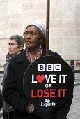 BBC Love It or Lose It Campaign. Fans of BBC TV programme Dr Who protest in support of the BBC outside Broadcasting House, London - Stefano Cagnoni - 23-11-2015