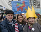 Jeremy Corbyn MP, Lisa Nandy MP and designer Vivienne Westwood, The People's March for Climate, Justice and Jobs. London - Stefano Cagnoni - 29-11-2015
