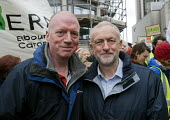 Jeremy Corbyn MP, Matt Wrack. FBU Gen Sec. The People's March for Climate, Justice and Jobs. London - Stefano Cagnoni - 29-11-2015