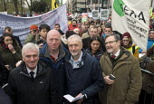 Jeremy Corbyn & John McDonnell MP, Matt Wrack FBU Gen Sec, Barry Gardiner MP The People's March for Climate, Justice and Jobs. London - Stefano Cagnoni - 29-11-2015