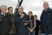 Jeremy Corbyn speaking, John McDonnell, Barry Gardiner, Lisa Nandy and Matt Wrack FBU Gen Sec The People's March for Climate, Justice and Jobs. London - Stefano Cagnoni - 29-11-2015