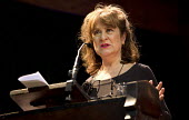 Baroness Helena Kennedy speaking, Voices for Justice - Save Legal Aid, Justice Alliance rally. Conway Hall. London. - Jess Hurd - 2010s,2016,activist,activists,Austerity Cuts,campaign,campaigner,campaigners,campaigning,CAMPAIGNS,DEMONSTRATING,Demonstration,DEMONSTRATIONS,FEMALE,freedom,Helena Kennedy,Human Rights,Justice Allianc