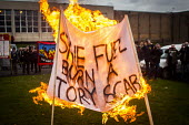 Save fuel burn a scab. Protest by miners and supporters the day after Kellingley colliery closed down, West Yorkshire. - Connor Matheson - 19-12-2015