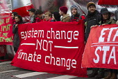 Red Lines climate change protests COP21 Climate Summit, Paris, France. System change not climate change - Jess Hurd - 12-12-2015