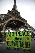 Red Lines climate change protests COP21 Climate Summit. Paris. No peace without Climate Justice - Jess Hurd - 12-12-2015