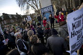 Council housing activists protest against the Housing Bill. Westminster. London. - Jess Hurd - 05-01-2016