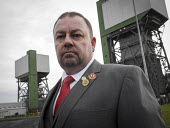 Closure of the last British deep coal mine, Kellingley Colliery. Day of the last ever shift coming off at Kellingley Colliery, the last deep coal mine in UKChris Kitchen, the Gen Sec of NUM - Mark Pinder - 18-12-2015