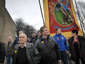 Protest by miners and supporters the day after Kellingley colliery closed down, West Yorkshire. - Mark Pinder - 19-12-2015