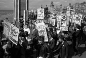 No War over Vietnam, BFAWU and CND protest, Labour Party Conference Blackpool 1964 - NLA - 1960s,1964,activist,activists,against,anti,Anti War,Antiwar,BFAWU,CAMPAIGN,Campaign for Nuclear Disarmament,campaigner,campaigners,CAMPAIGNING,CAMPAIGNS,CND,Conference,conferences,DEMONSTRATING,Demons