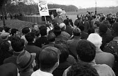 Fenner Brockway speaking against racist Rhodesia and UDI, Speakers Corner, Hyde Park, 1965 - NLA - 23-01-1965