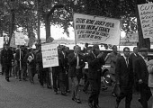 Seamens strike 1966. Striking seamen march through London to rally in Trafalgar Square, London - NLA - 05-06-1966