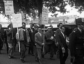 Seamens strike 1966. Striking seamen march through London to rally in Trafalgar Square.. - NLA - 05-06-1966