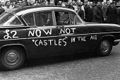 2 a week now not Castles in the Air, slogan on a car in reference to Barbara Castle and In Place of Strife an attempt to transform industrial relations with new legislation. AEU lobby the annual engin... - NLA - 10-04-1968