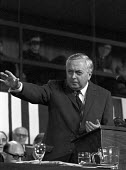 Harold Wilson speaking Labour Party Conference 1969 - NLA - 1960s,1969,Conference,conferences,Harold Wilson,Labour Party,Labour Party Conference 1969,male,man,men,MP,MPs,Party,people,person,persons,POL,political,politician,politicians,Politics,SPEAKER,SPEAKERS