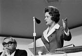 Barbara Castle speaking with George Brown listening, Labour Party Conference 1968 - NLA - 1960s,1968,attention,attentive,Barbara Castle,Castle,Conference,conferences,FEMALE,In Place of Strife,intelligence,intelligent,interested,Labour Party,Labour Party Conference 1968,listening,MP,MPs,Par