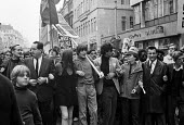 Tariq Ali, protest against the Vietnam War, ending at US Embassy, Grosvenor Square, London - NLA - 27-10-1968