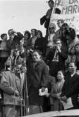 Madame Nguyen Thi Binh, National Liberation Front (NFL) of Vietnam speaking to CND Easter March from Cardiff to London, Trafalgar Square. After the defeat of the USA, she became vice-president of Viet... - NLA - 07-04-1969