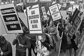 Youg Overseas Telegraph Operators protest over pay and the refusal of Post Office to negotiate with their union, the UPW - NLA - 30-01-1969