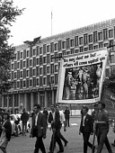 Protest against the Vietnam War passing US Embassy, London - NLA - 03-08-1966