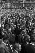 Mass meeting of dockers over containerisation of cargo and job losses, Liverpool and Birkenhead docks 1969 - NLA - 02-08-1969