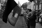 Sinn Fein protest outside the Hampstead home of Labour Party leader Michael Foot during hunger strike by H block republican prisoners in Northern Ireland, London 1981 - Philip Wolmuth - 24-05-1981