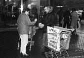 Collection at a shopping centre in Motherwell in support of striking miners and their families during the Miners Strike - Rick Matthews - 18-10-1984