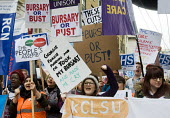 Save NHS Bursary March, London. Protest by NHS staff and supporters against Government proposals to remove bursaries from sudents studying to become nurses and midwives, which will leave them with deb... - Stefano Cagnoni - 09-01-2016
