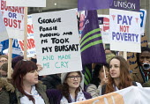 Save NHS Bursary March, London. Protest by NHS staff and supporters against Government proposals to remove bursaries from sudents studying to become nurses and midwives, which will leave them with deb... - Stefano Cagnoni - 2010s,2016,activist,activists,against,Austerity Cuts,Bursaries,Bursary,CAMPAIGN,campaigner,campaigners,CAMPAIGNING,CAMPAIGNS,cuts,debts,DEMONSTRATING,Demonstration,DEMONSTRATIONS,fee,fees,female,Georg