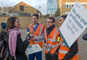 Junior Doctors national 1 day strike over employment contracts. Catherine West, Labour MP for Hornsey and Wood Green, talking to, and supporting, Junior Doctors on the picket line at the Whittington H... - Stefano Cagnoni - 12-01-2016