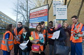 Junior Doctors national 1 day strike over employment contracts. Junior Doctors joined by a supportive patient on the picket line at the Whittington Hospital, north London - Stefano Cagnoni - 12-01-2016
