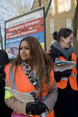 Junior Doctors national 1 day strike over employment contracts. Junior Doctors on the picket line at the Whittington Hospital, north London - Stefano Cagnoni - 12-01-2016