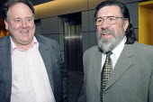 CWU GS Billy Hayes and actor and author Ricky Tomlinson meet at CWU annual conference in Liverpool. - Janina Struk - 2000s,2008,activist,ACTIVISTS,at,CAMPAIGN,campaigner,campaigners,CAMPAIGNING,CAMPAIGNS,conference,conferences,CWU,member,member members,members,men man,people,Ricky Tomlinson,rights,Shrewsbury Pickets
