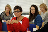 Woman in discussion, BECTU Women's conference, London 2015 - Janina Struk - 21-11-2015