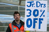 Junior doctors 30 per cent off, strike over new contract. Worcestershire Royal Hospital - Timm Sonnenschein - 12-01-2016