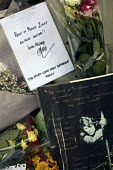 David Bowie Memorial Wall, Brixton, London - Janina Struk - 2010s,2016,ACE,Arts,cities,city,Culture,David Bowie,dead,death,deaths,died,floral tribute,floral tributes,flower,flowering,flowers,London,melody,memorial,memories,memory,mortality,music,MUSICAL,musici